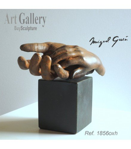 Escultura Paternidad en Bronce Oxidado