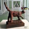 Escultura Felino en Bronce Oxidado