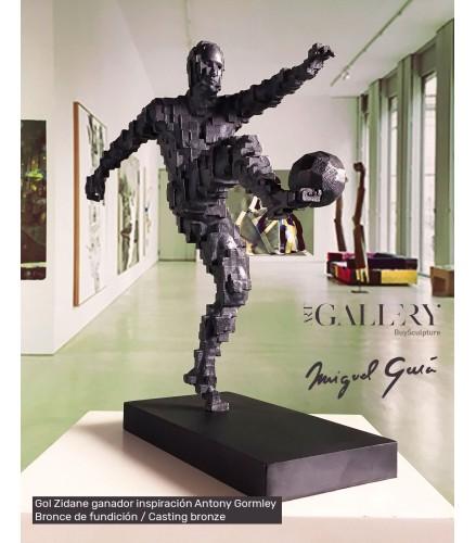 Gol Zidane ganador inspiración Antony Gormley