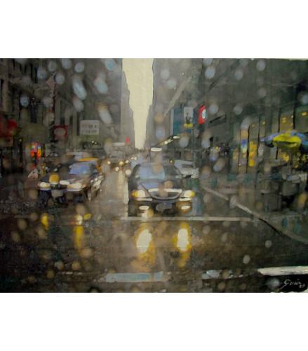Lloviendo en Nueva York