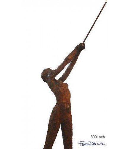 Escultura Movimiento n1 en bronce oxidado