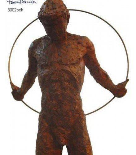 Escultura Movimiento n2 en bronce oxidado
