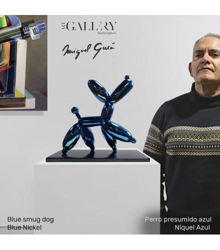 Perro presumido Azul
