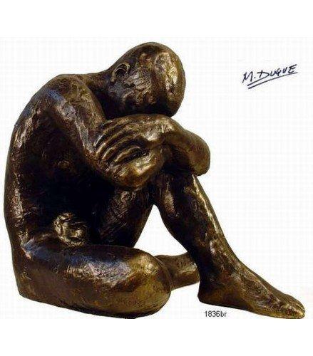 Escultura Desnudo Masculino en bronce oscuro