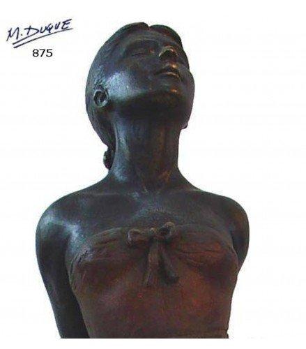 Escultura Bailarina Ballet en Bronce Oxidado