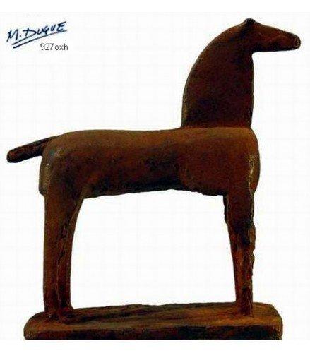 Escultura Ecuestre I en Bronce Oxidado